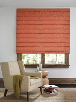 Roman shade installed in Merrimack county