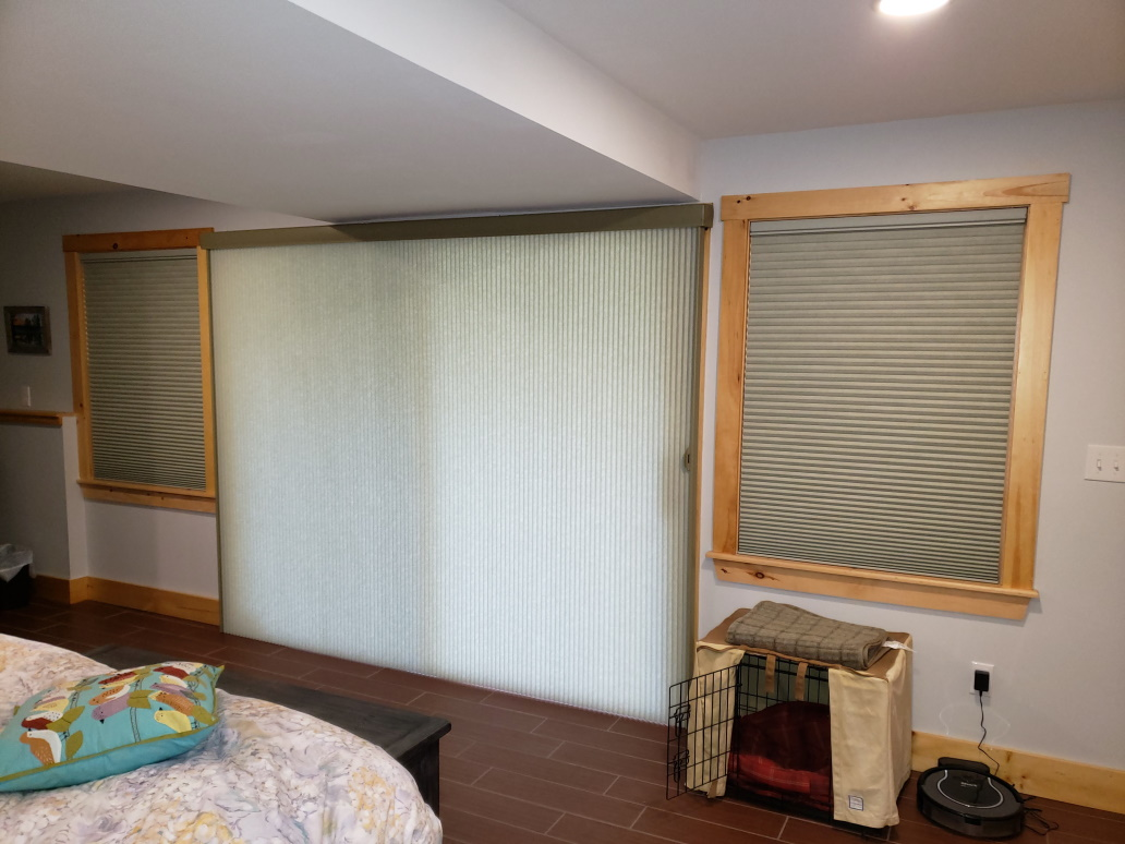 Hopkinton NH window coverings in a bedroom