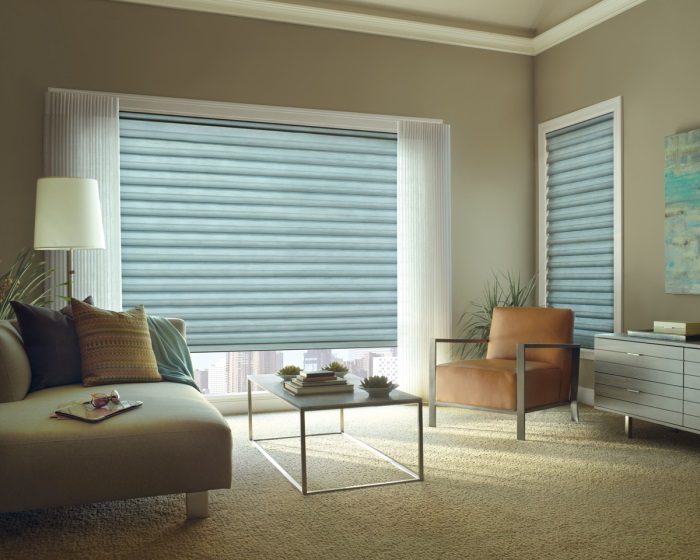 Solera soft shades in a bedroom