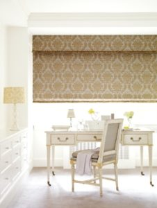 flat-roman-shade-in-bedroom