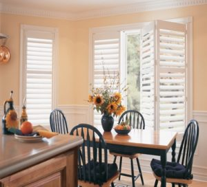 white dining room shutters