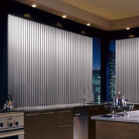 aluminum vertical blinds in a kitchen