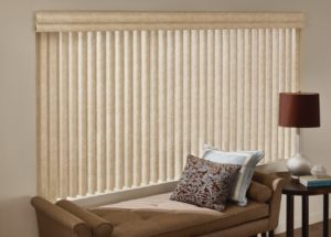 Vertical blinds are a timeless choice