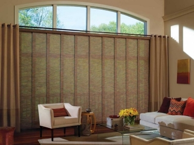 roller shades on a large window