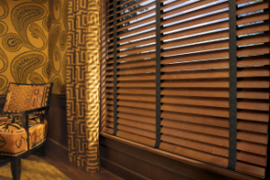 faux woodblinds in a laconia living room