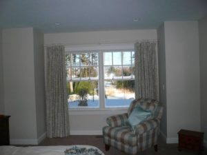 custom made drapes in a bedroom