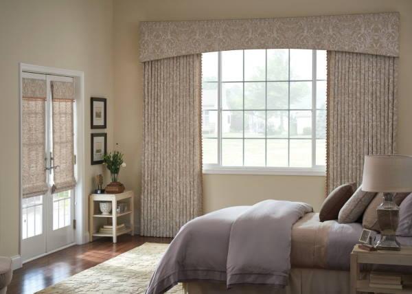 Graber drapery in a bedroom