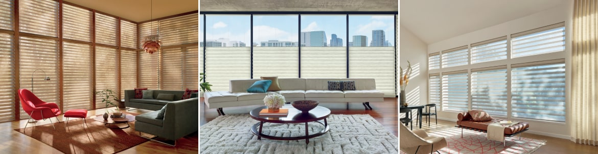 3 styles of blinds from Hunter Douglas